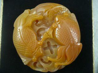 Natural Quartzite Jade,  Pisces Around,  Safety Certificate photo