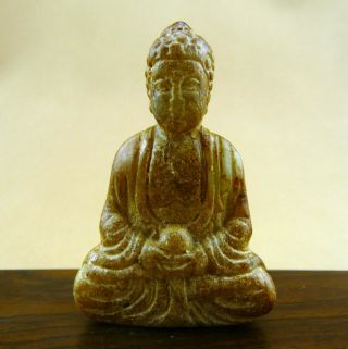 Chinese Classical Hand Carved Old Jade Buddha Statue /10 - 019 photo