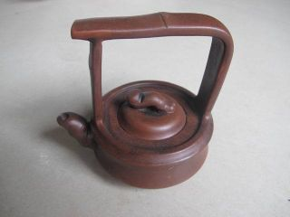 Chinese Yixing Zisha Teapot Column Square High Handle Exquisite 08 photo