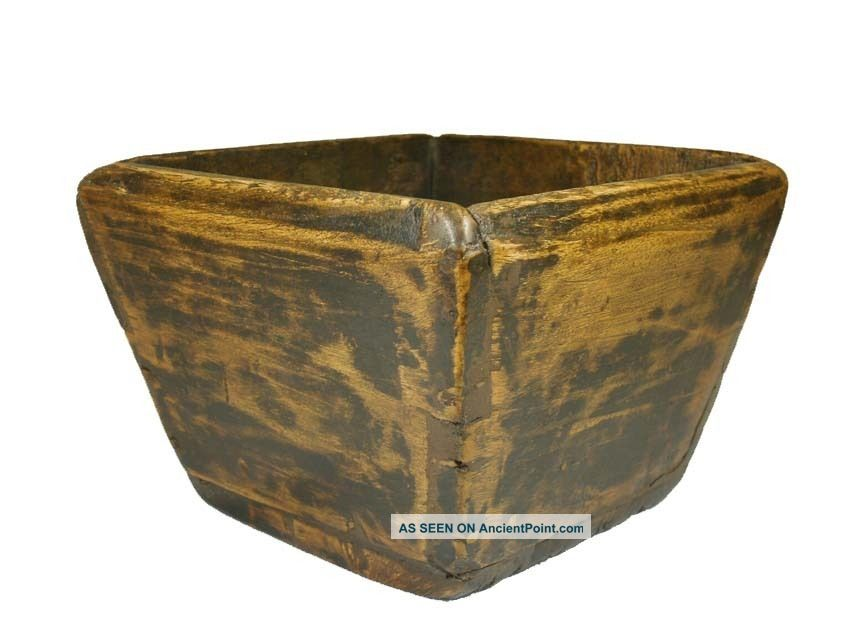 Chinese Antique Small Wood Dou/basket/grain Measure Boxes photo
