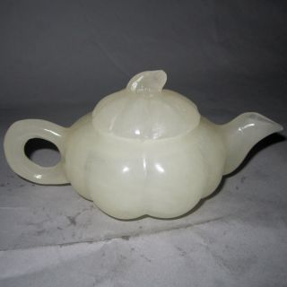 Chinese Afghanistan Jade Teapot W Lid Nr/xy840 photo
