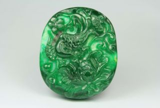 Chinese Old Jade Wonderful Handwork Carving Dragon Pendant photo