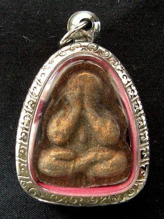 Thai Amulet Phra Pidta Ma - Ha - Ud Luang Phor Tim,  Wat Lahanrai,  Royong. photo
