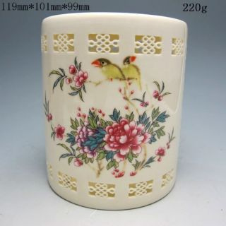 Hollowed Chinese Rose Colorful Porcelain Brush Pots Nr/xy1735 photo