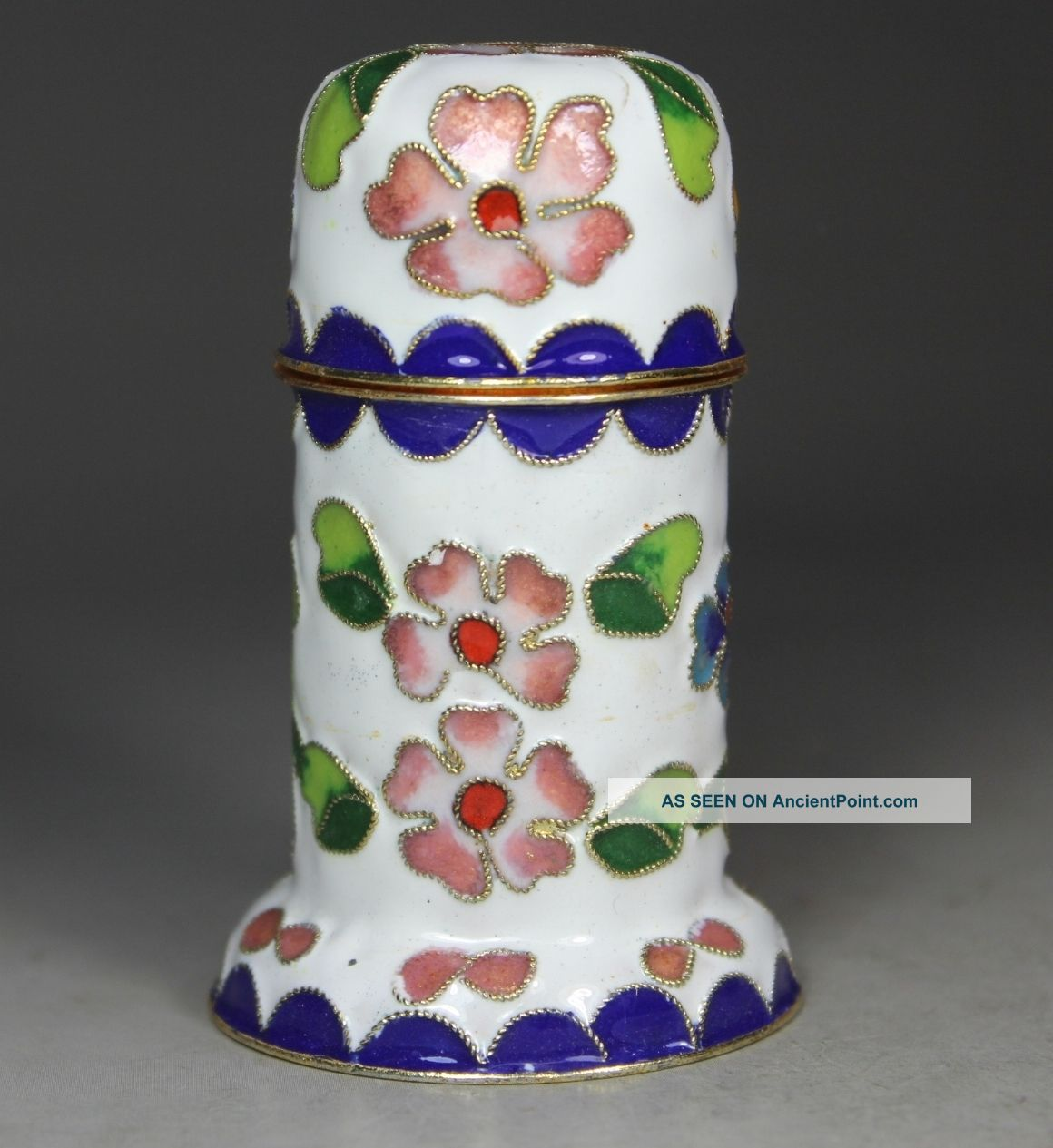 Chinese Handwork Cloisonne Flower Old Toothpick Boxes photo