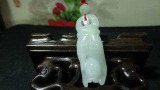 Chinese 100%natural Green Ice Grade A Jade Jadeite Pendant/yu Nv Hand photo