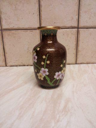 1930s Chinese Cloisonne Vase photo