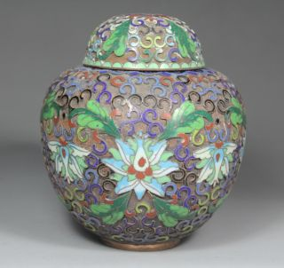 Chinese Old Cloisonne Handwork Painting Flower Pot photo