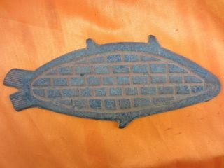 Collection Antique Chinese Bronze Belt Scales Pattern Of Fish Kb photo