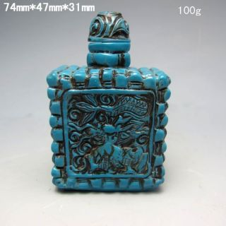 Chinese Turquoise Hand - Carved Snuff Bottle Nr/xy2001 photo