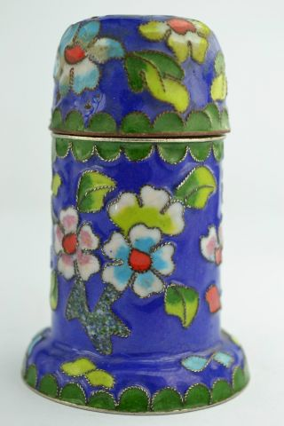 - China Rare Collectibles Old Handwork Cloisonne Flower Toothpick Box photo