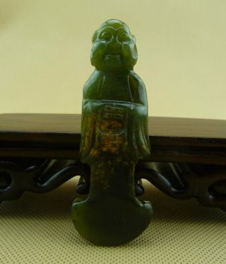 Chinese Classical Hand Carved Old Jade Arhat Statue /10 - 024 photo