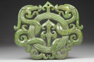 Chinese Old Jade Wonderful Handwork Carving