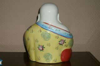 Large Chinese Famille Rose Porcelain Buddha photo