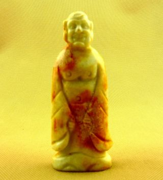 Chinese Classical Hand Carved Old Jade Buddha Statue (one Of 18 Arhats) /10 - 038 photo