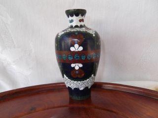 Antique Japanese Cloisonne Meiji Period Ginbari 4 1/2