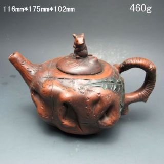 Chinese Zisha / Purple Clay Teapot W Mark Nr/nc2140 photo