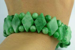 Asian Old Collectibles Decorated Wonderful Handwork Jade Burnish Bracelet Aaaaa photo