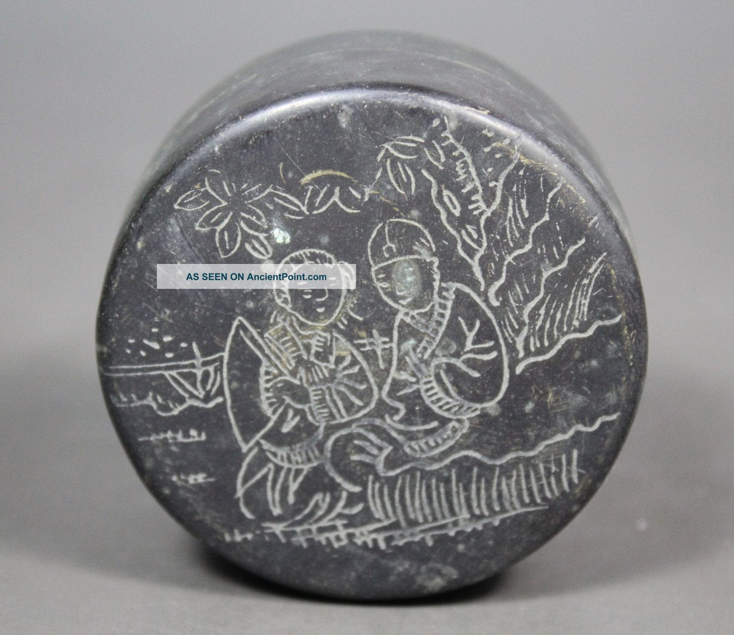 Chinese Handwork Painting Belle Old Copper Box Boxes photo