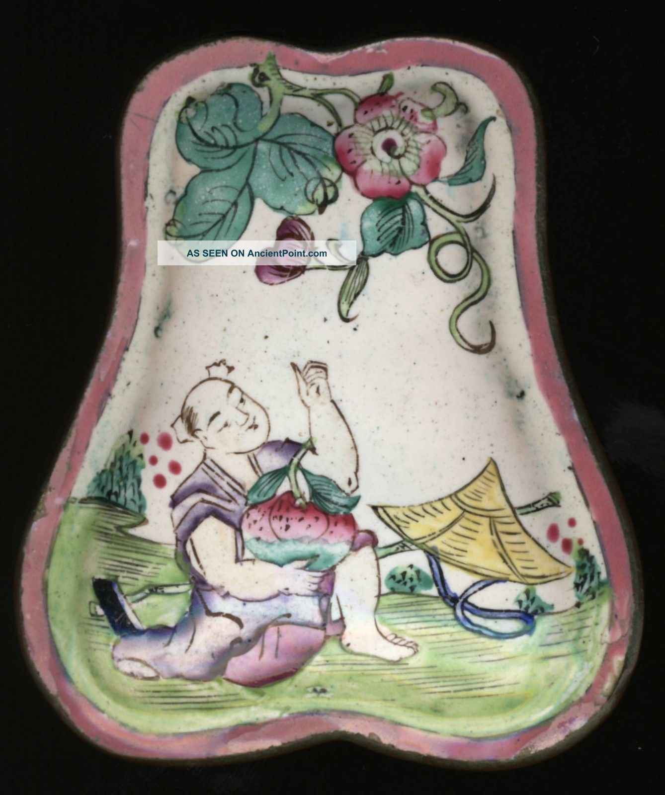 Chinese Canton Or Peking Enamel Gourd Shaped Lidded Box Circa Late 1800s China Boxes photo
