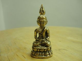 Phra Chaiwat Buddha Wealth Rich Lucky Charm Thai Amulet photo