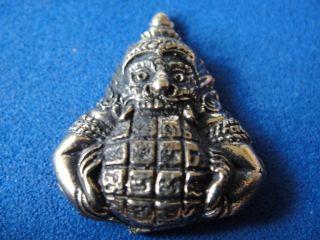 Rahu Hanuman Om Moon Wat Suthat Hindu Wealth Thai Amulet photo