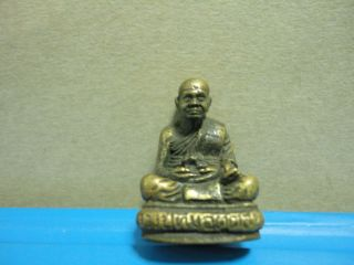 Lp Tim Buddha Statue Good Luck Safe Charm Thai Amulet photo