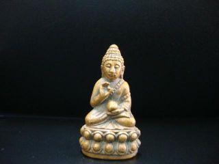 Thai Amulet Buddha Phra Kringj Pendant Brass Bangkok Lucky Amulet photo