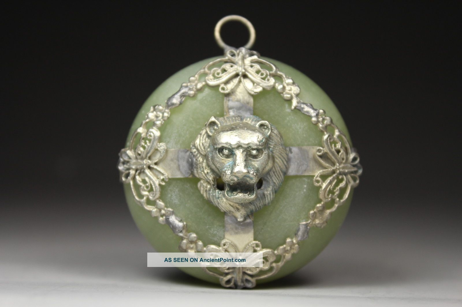 Chinese Handwork Lion Old Jade Pendant Uncategorized photo
