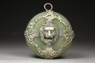 Chinese Handwork Lion Old Jade Pendant photo