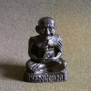 Lp Luang Pou Tuad Sculpture Good Luck Safety Charm Thai Amulet photo