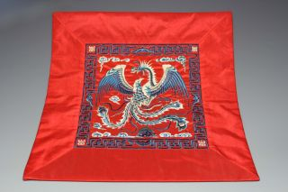 Chinese Silk Wonderful Handwork Embroidery Phoenix Decoration photo
