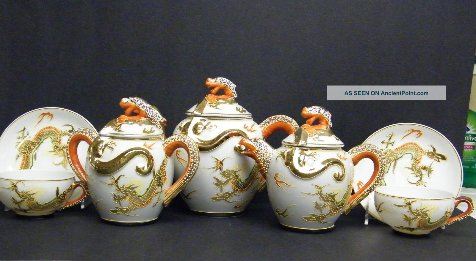 Antique Japanese Tea Sets With Dragon Antique Geisha Girl Dragon Tea