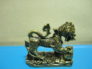 Singha Hunt Money Wealth,  Love And Good Luck Thai Amulet photo