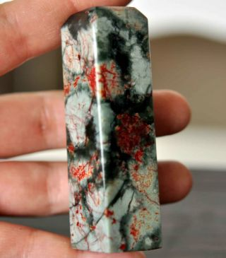Chinese Handwork Nature Red Bloodstone Jade Seal photo