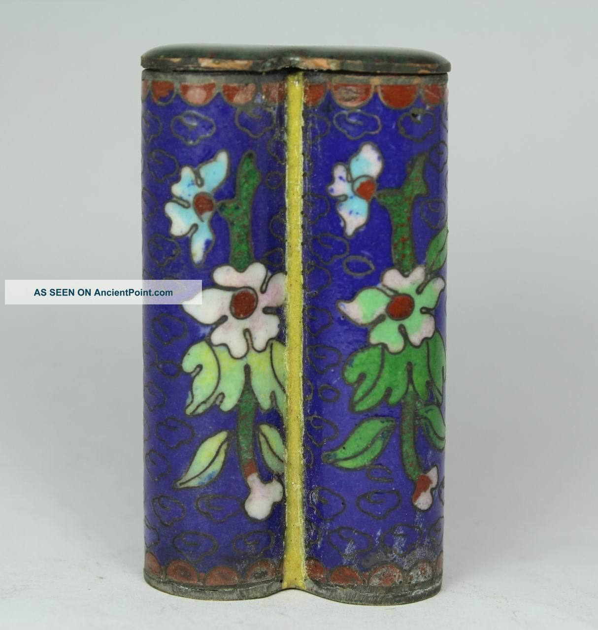 Chinese Handwork Painting Flower Old Cloisonne Snuff Bottle Uncategorized photo
