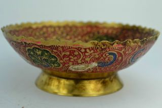 - China Collectibles Old Decorated Handwork Cloisonne Flower Bowl photo