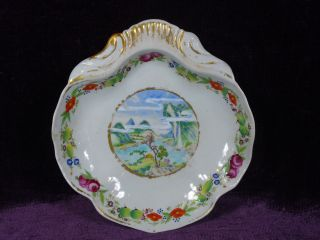 Rare Antique 19c Chinese Export Porcelain Famille Rose Shrimp Plate Europ Market photo