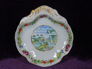 Rare Antique 19c Chinese Export Porcelain Famille Rose Shrimp Plate Europ Market photo