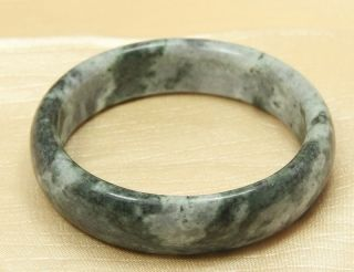 100% Natural Light Green Jade Bangle Bracelet In - D 62 Mm 8194 photo