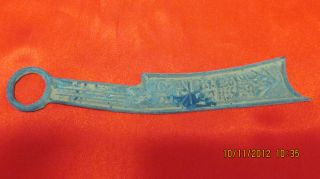 New Style Festive Cift Chinese Big Bronze Sheet Knife Shape Style photo