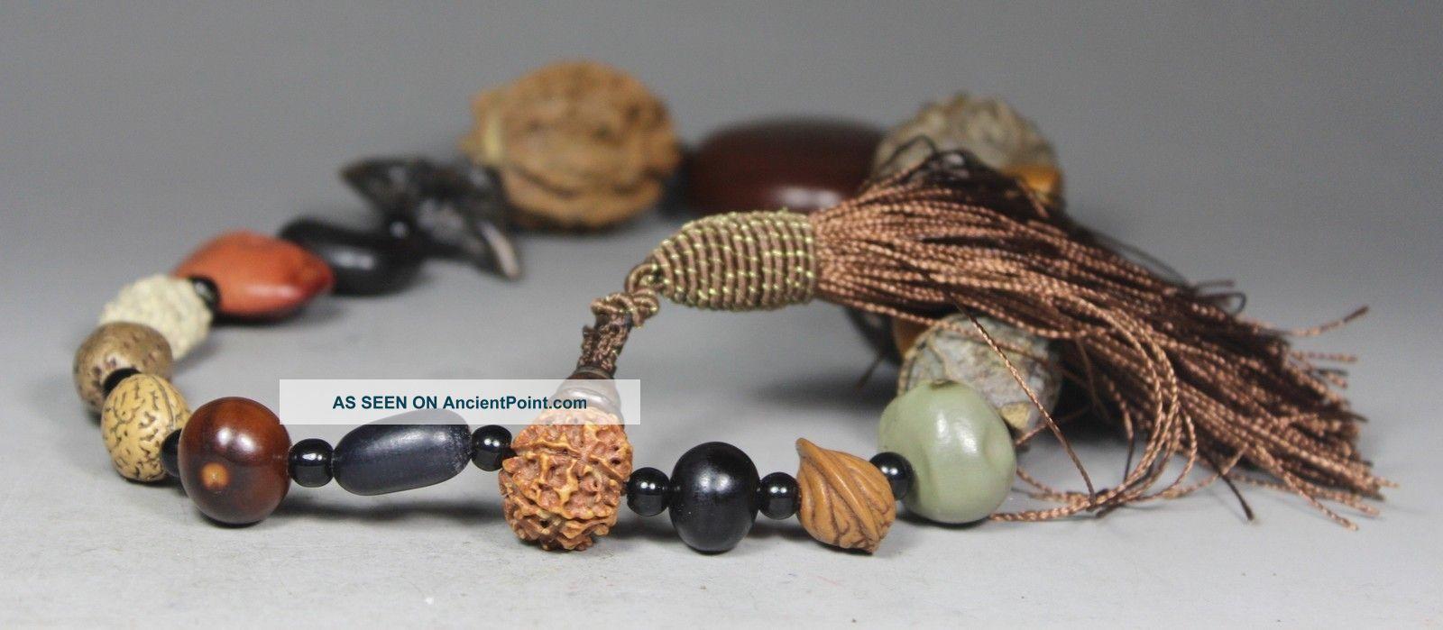 Chinese Old Bodhi Handwork Bunch Buddha Beads (20 Piece) Buddha photo