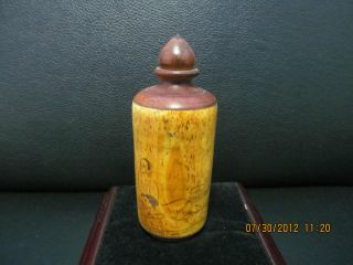 Chinese Wooden Snuff Bottle Bargain Price photo