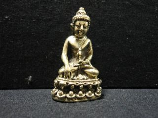 Holy Buddha Wealth Rich Lucky Charm Thai Amulet photo