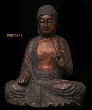 Antique Wooden Buddha photo