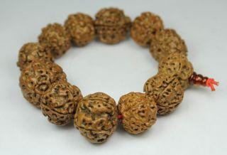 Chinese Handwork Old Nut Fruit Bracelet photo