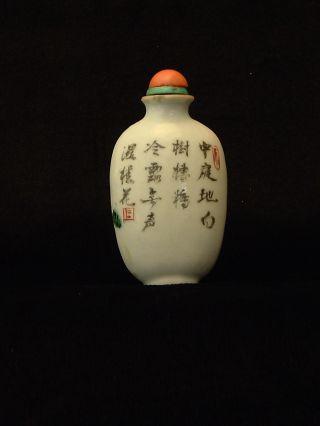 Antique Chinese Snuff Bottle,  Porcelain photo