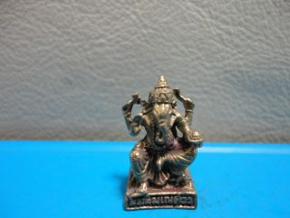 Lord Ganesh Om Hindu Charm Thai Success Amulet Talisman photo
