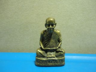 Lp Khlay Buddha Statue Good Luck Safe Charm Thai Amulet Pendant photo