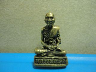 Lp Seng Buddha Statue Good Luck Safe Charm Thai Amulet Pendant photo